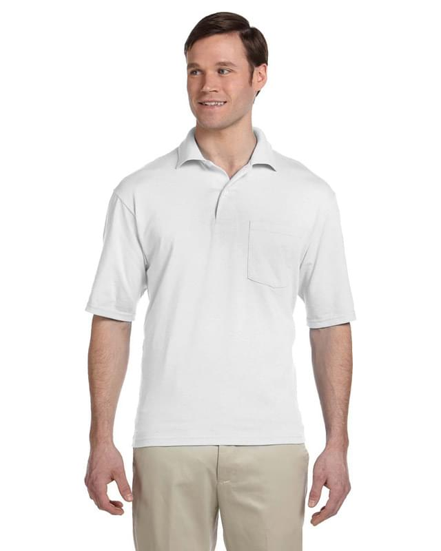 Adult 5.6 oz. SpotShield Pocket Jersey Polo