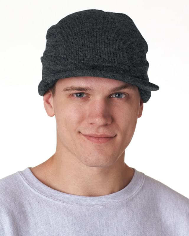 Adult Knit Beanie with Lid