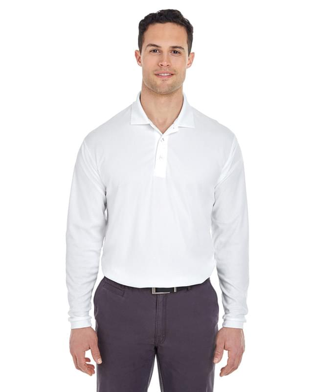 Adult Cool & Dry Long-Sleeve MeshPiqu Polo