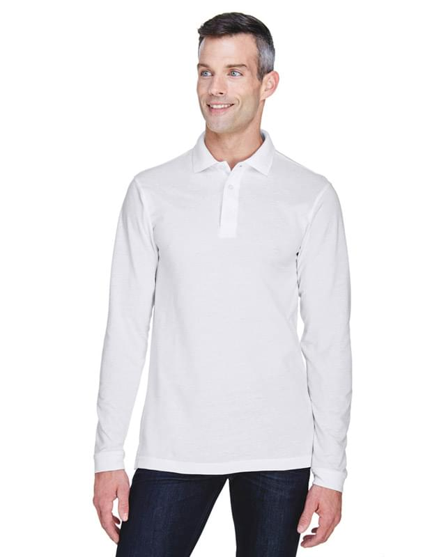 Men's 5.6 oz. Easy Blend Long-Sleeve Polo