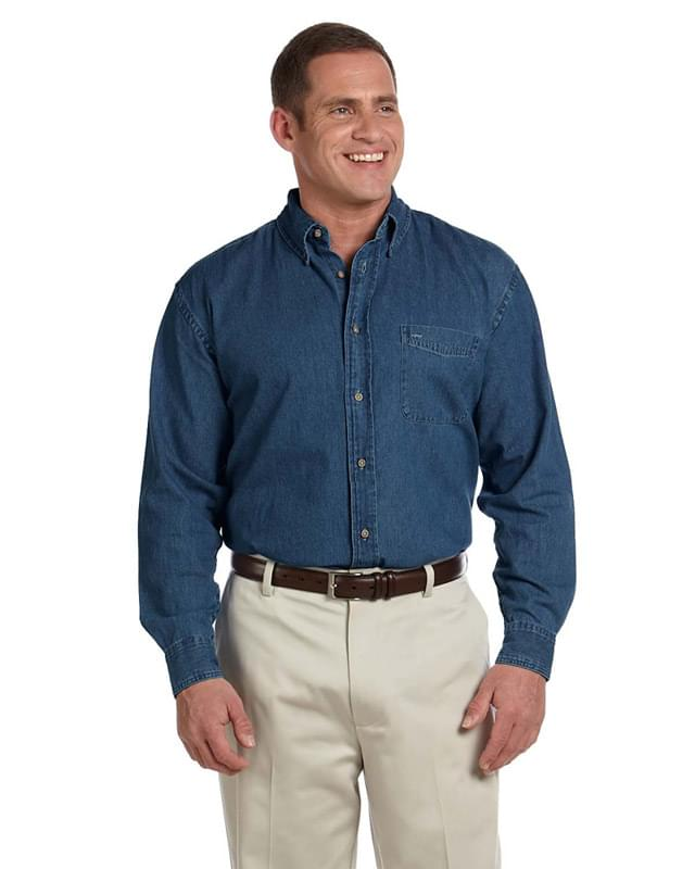 Men's Tall 6.5 oz. Long-Sleeve Denim Shirt