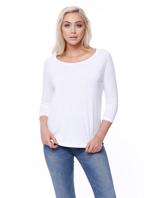 Ladies' CVC Long-Sleeve Raglan
