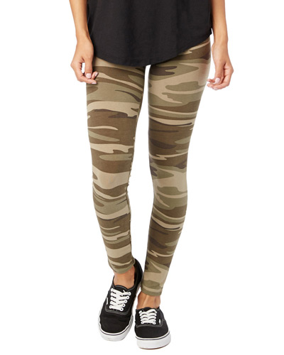 Ladies' Cotton/Spandex Printed Go-To Legging