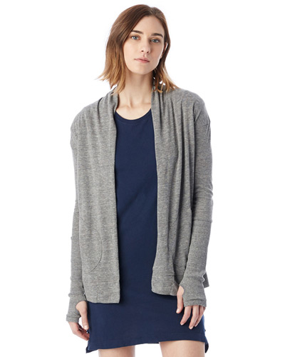 Ladies' Eco-Jersey Rib Sleeve Wrap
