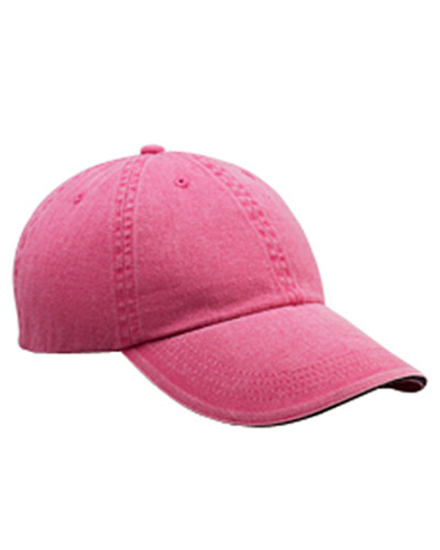 Solid Low-Profile Sandwich Trim Pigment-Dyed Twill Cap