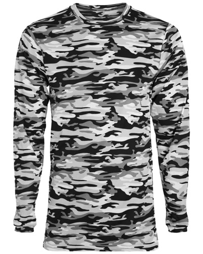 Youth Mod Camo Wicking Long-Sleeve T-Shirt