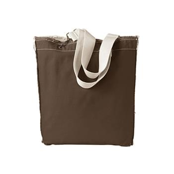 14 oz. Direct-Dyed Raw-Edge Tote