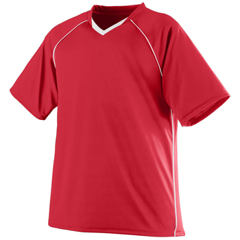 Adult Wicking Polyester V-Neck Jersey with Contrast Piping