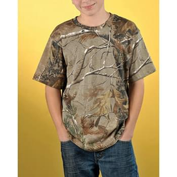 Youth Officially Licensed REALTREE Camouflage Short Sleeve T-Shirt