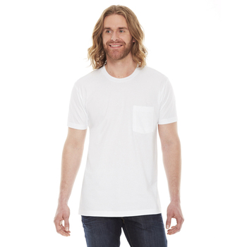 Unisex Fine Jersey Pocket Short-Sleeve T-Shirt