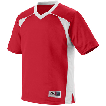 Adult Polyester Mesh V-Neck Short-Sleeve Jersey