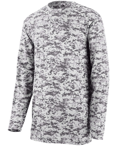 Youth Digi Camo Wicking Long-Sleeve T-Shirt