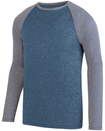 Adult Kinergy Two-Color Long-Sleeve Raglan T-Shirt
