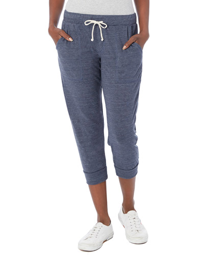 Ladies' Cropped Eco Jersey Jogger Pants