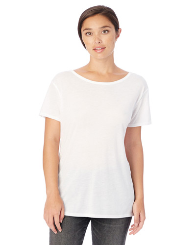 Ladies' Cross-Back Slinky-Jersey T-Shirt