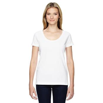 Ladies' Scoop Neck Fine Jersey T-Shirt