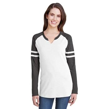 Ladies Gameday Mash-Up Long-Sleeve Fine Jersey T-Shirt