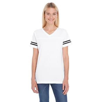 Ladies' Football Fine Jersey T-Shirt
