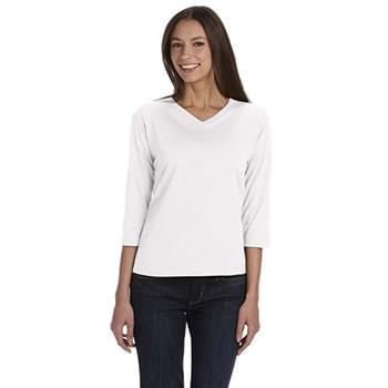 Ladies' 3/4-Sleeve Premium Jersey T-Shirt