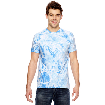 for Team 365 Adult Team Paw Print Tie-Dyed T-Shirt