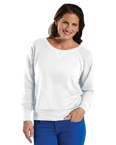 Ladies' Slouchy French Terry Pullover