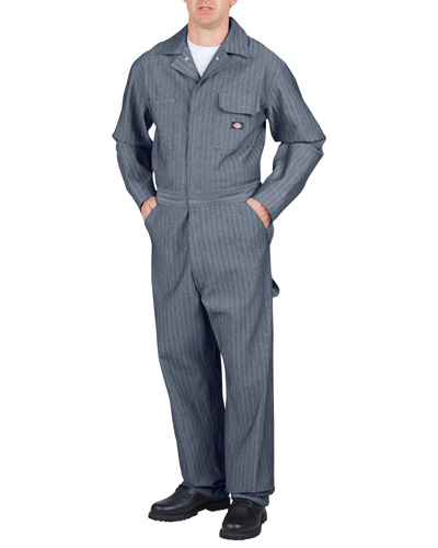 Unisex Tall Cotton Coverall - Fisher Stripe