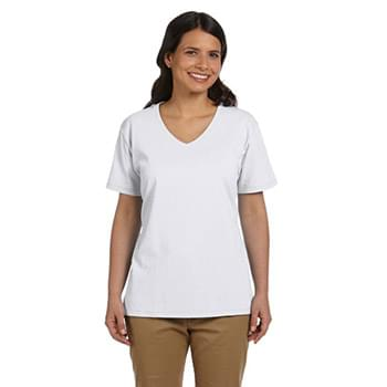 Ladies' 5.2 oz. Tagless V-Neck T-Shirt