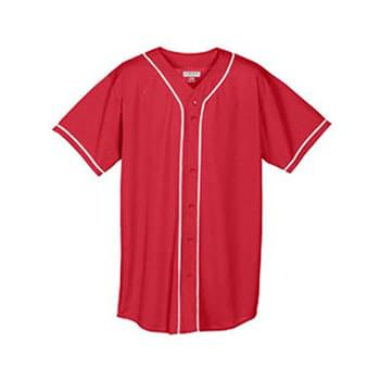 Youth Wicking Mesh Braided  Trim Jersey