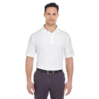 Men's Platinum Honeycomb Piqu Polo