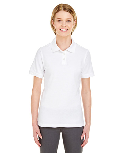 Ladies' Platinum Honeycomb Piqu Polo