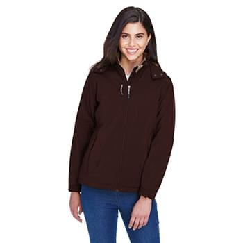 Ladies' Glacier Insulated Three-Layer Fleece Bonded Soft Shell Jacket with Detachable Hood
