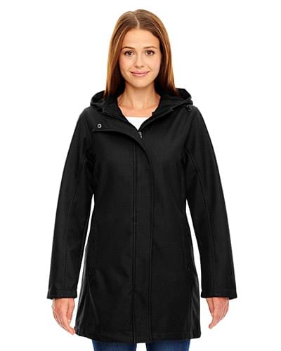 Ladies' City Textured Three-Layer Fleece Bonded Soft Shell Jacket