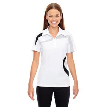 Ladies' Impact Performance Polyester Piqu Colorblock Polo