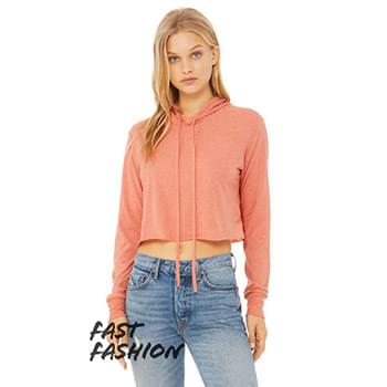 Fast Fashion Ladies' Cropped Long-Sleeve Hoodie