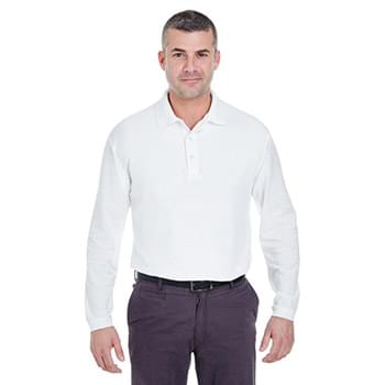 Adult Long-Sleeve Whisper Piqu Polo