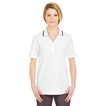 Ladies' Short-Sleeve Whisper PiquPolo with Tipped Collar