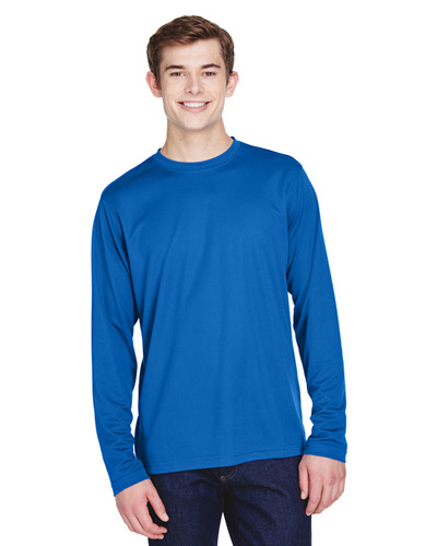 Men's Agility Performance Long-Sleeve Piqu Crew Neck