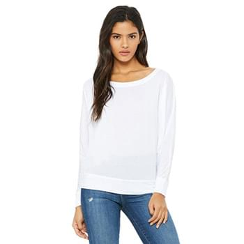 Ladies' Flowy Long-Sleeve Off Shoulder T-Shirt