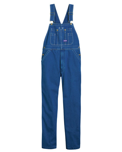 Unisex Big Smith Stonewashed Denim Bib Overall