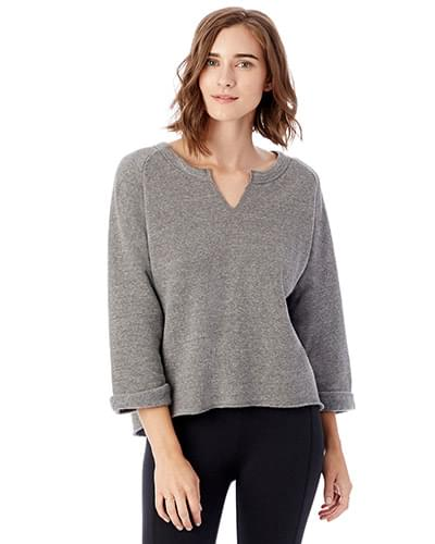 Ladies' Champ Remix Eco Fleece V-Notch Sweatshirt