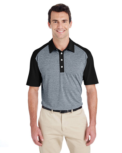 Men's Heather Block Polo