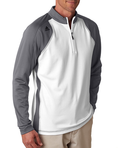 Men's climawarm+ 3-Stripes Colorblock Quarter-Zip Training Top
