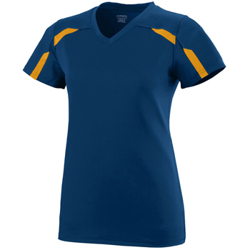 Girls Wicking Poly/Span Short-Sleeve T-Shirt