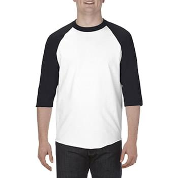 Adult 6.0 oz., 100% Cotton 3/4 Raglan T-Shirt