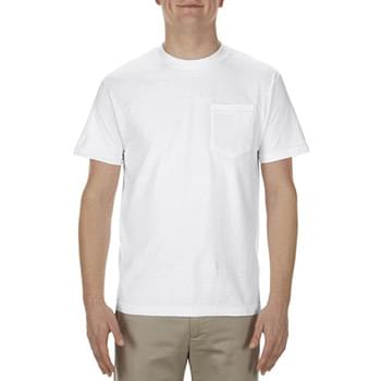 Adult 5.1 oz., 100% Soft Spun Cotton Pocket T-Shirt