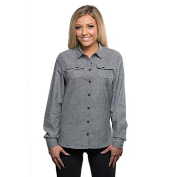 Ladies' Solid Flannel Shirt