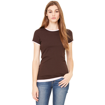 Ladies' Sheer Jersey Short-Sleeve 2-in-1 T-Shirt