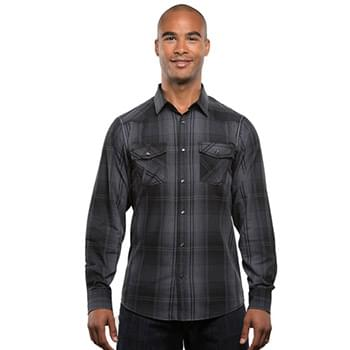 Men's Long-Sleeve Western Plaid Shirt