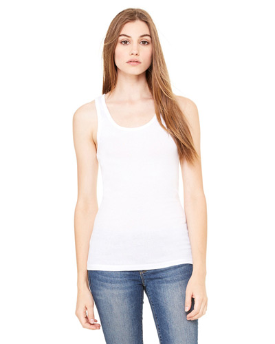 Ladies' Sheer Mini Rib Tank