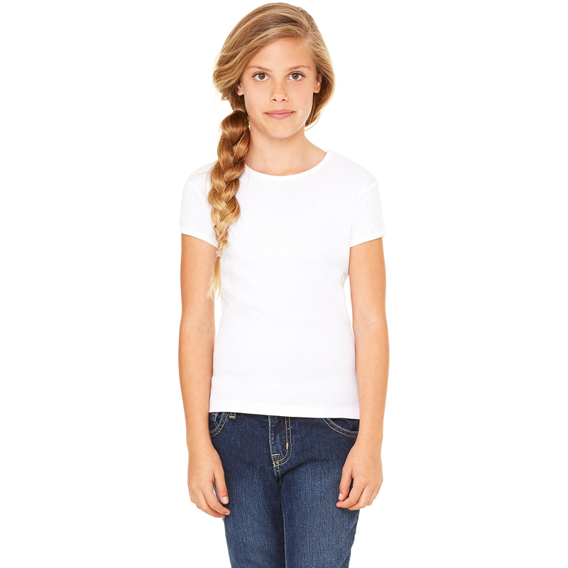 Girls' Stretch Rib Short-Sleeve T-Shirt